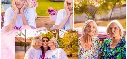 World's oldest TWINS celebrate their 100th birthday and their cute snaps will warm your heart (photos)