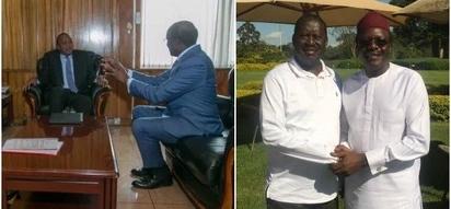 Ex Cabinet Secretary Mukhisa Kituyi meets Uhuru and Raila amid political stalemate