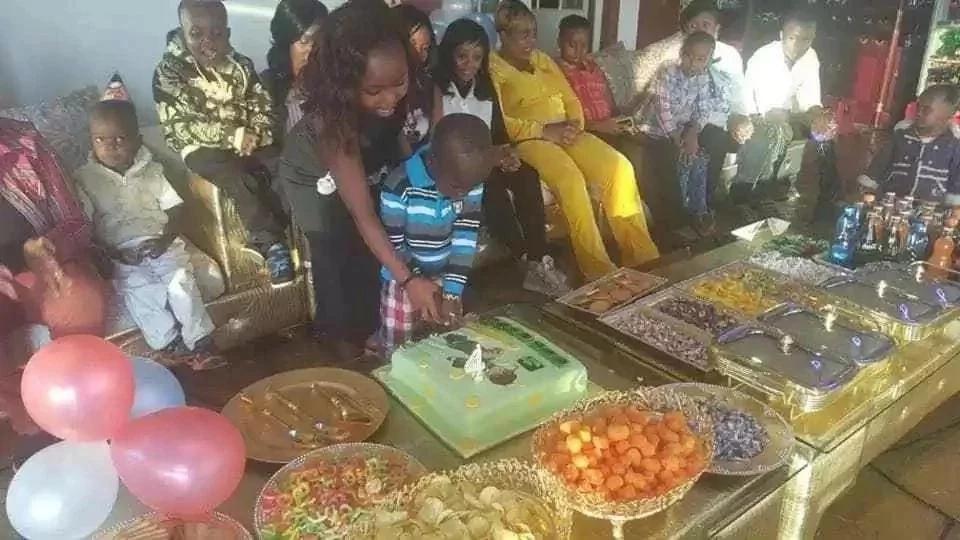 Picha za sherehe ya siku ya kuzaliwa ya mtoto wa Sonko wa kupanga (PICHA)