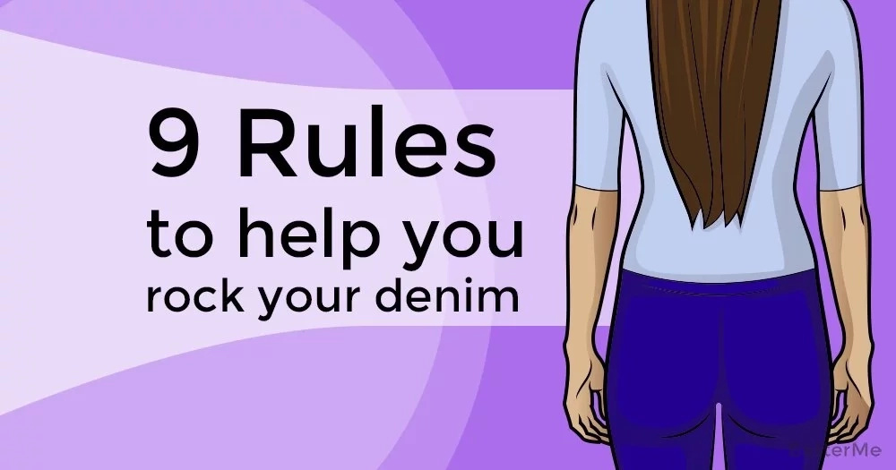 9 rules to help you rock your denim