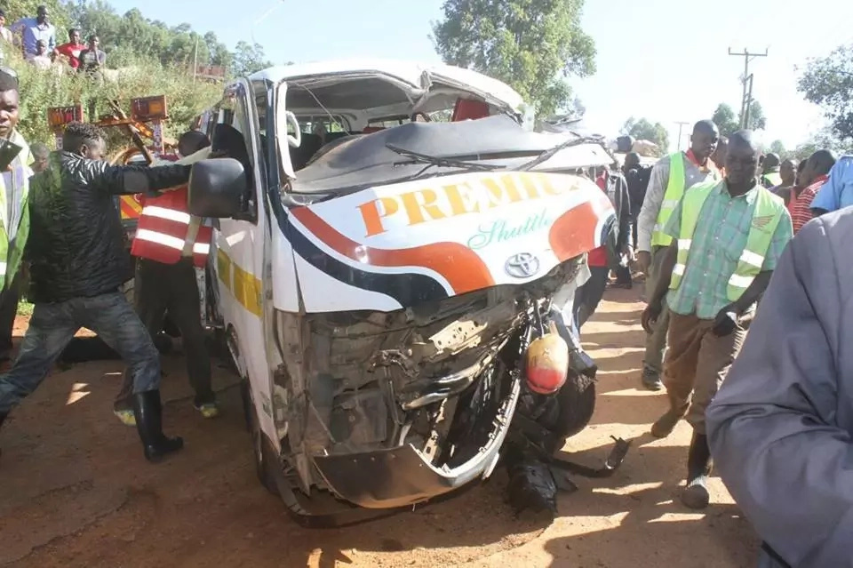 Grisly road accident in Kisii kills 5 instantly (photo)
