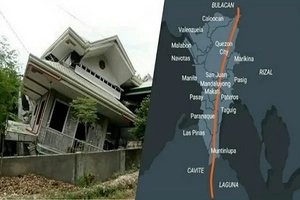 "57 villages in Greater Metro Manila might be severely damaged by ""The Big One"" earthquake"