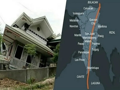 """57 villages in Greater Metro Manila might be severely damaged by """"The Big One"""" earthquake"""