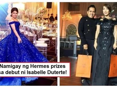 Parang Prinsesa! Isabelle Duterte gave away expensive Hermes items as prizes at her grand debut celebration