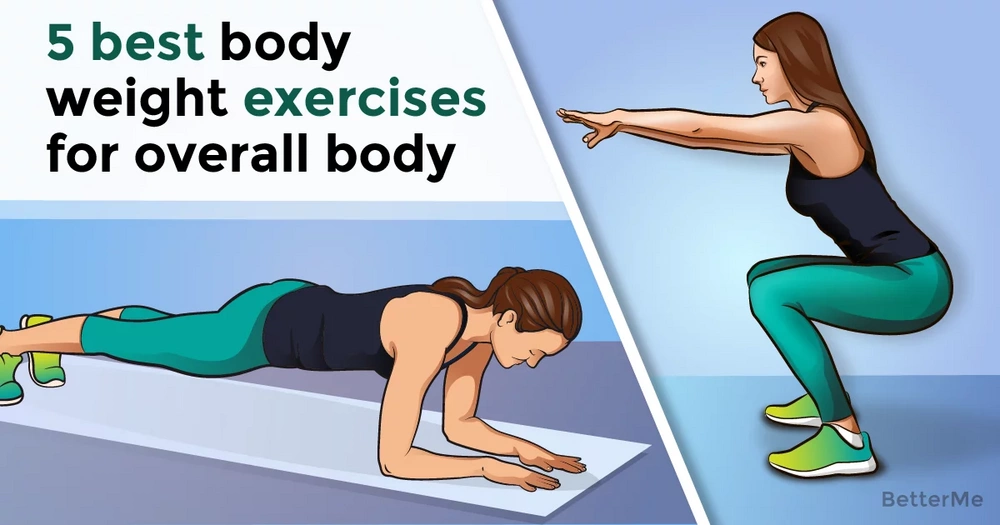 5 best bodyweight exercises for overall fitness