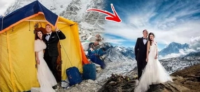 Leveling up - literally! This couple amazed the world when they made their wedding vows right on top of Mt. Everest!