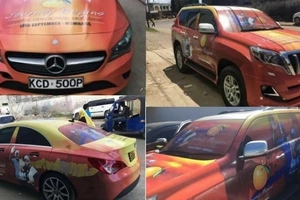 Branded vehicles of ODM unveiled ahead of grand party (Photos)