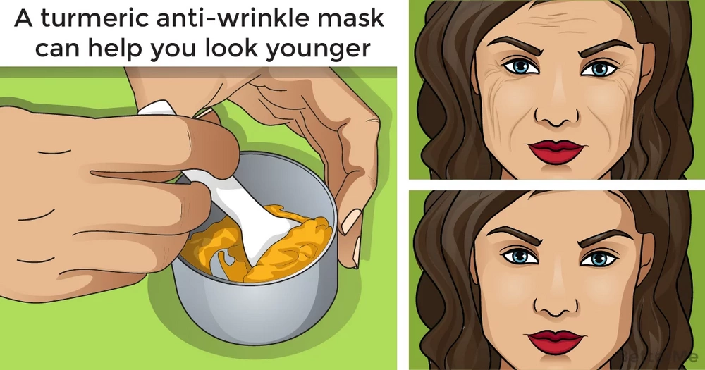 A turmeric anti-wrinkle mask can help you look younger
