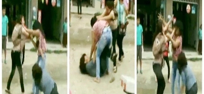 Wife and mistress meet face to face, fight in violent street brawl (photos, video)