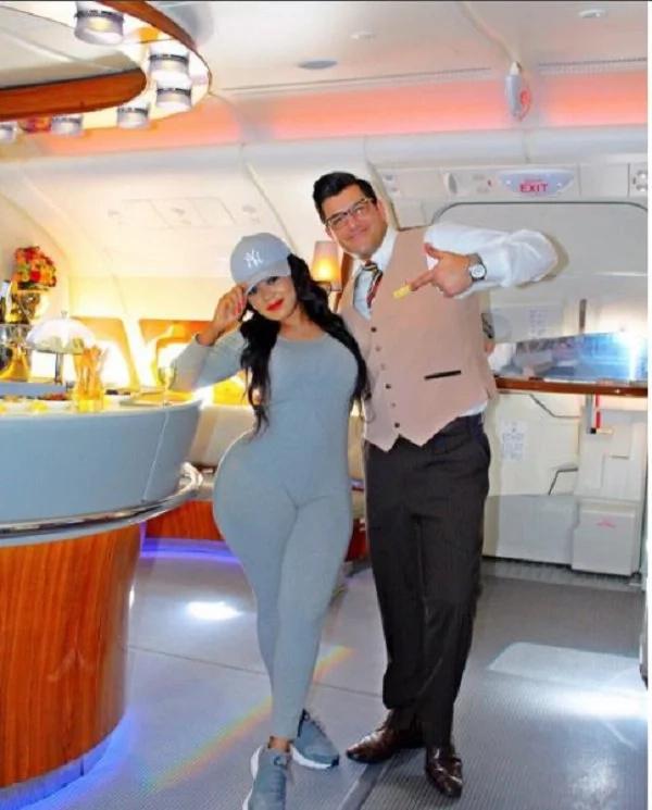 Vera Sidika celebrates birthday on a private jet