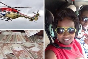 Luo woman leaves Kenyans stunned by hiring chopper after being stuck in traffic (photos)