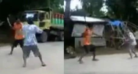 Real swordfight in Negros caught on video