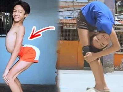"""Flexible Flexi-Boy"" Just Got Real! Netizens Are Stunned by This Boy's Bone-Breaking Antics!"