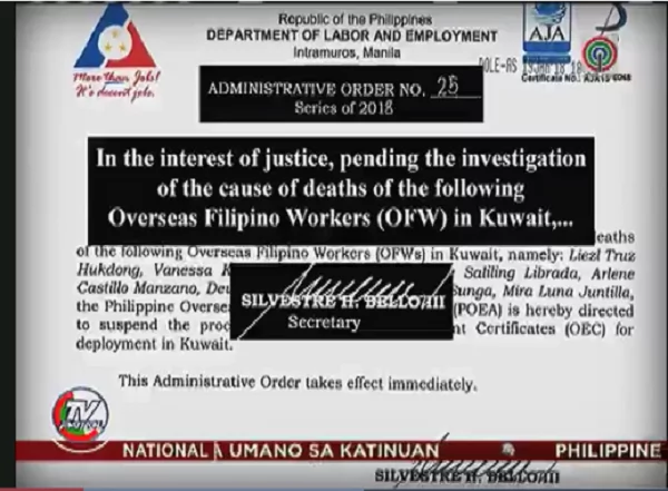 Kahit mali basta makapagtrabaho! Some OFW chose to transact with illegal recruiters because of deployment ban to Kuwait