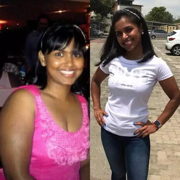 Sameshni pictured before and after her weight transformation. Source: sleekgeek.co.za