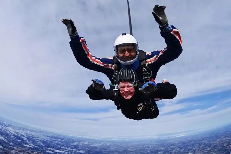 Daring! Woman, 85, spends time skydiving, paragliding, swimming with sharks and here is why