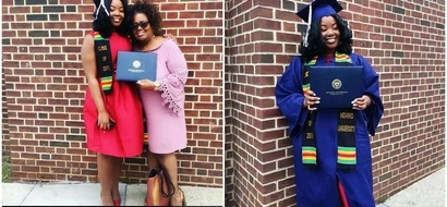 """I stand on your shoulders:"" This graduate's MOVING tribute to her mother will touch your heart (photos)"