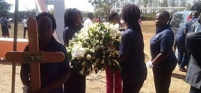 Sombre mood as respected journalist Waweru Mburu is laid to rest (Video + Photos)