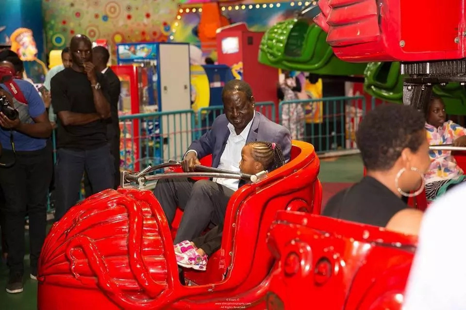 "NASA leader Raila Odinga takes a break from the ""Canaan trip"" and this is what he was upto"