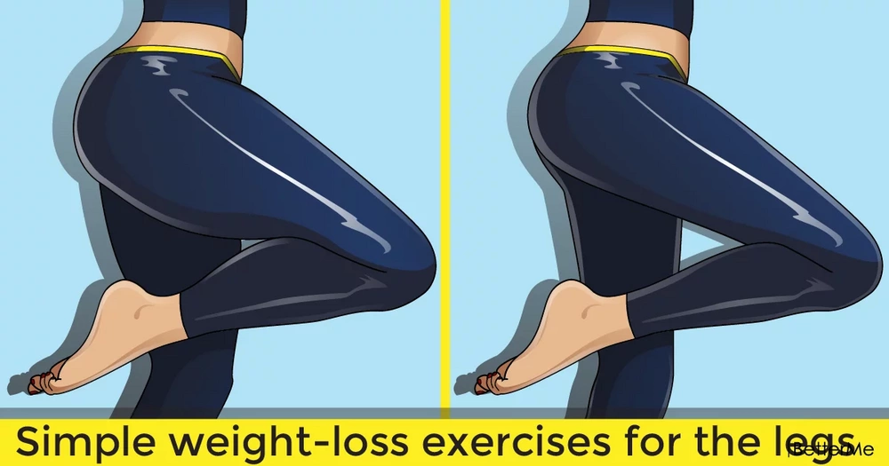 Simple but effective weight-loss moves for the legs before bedtime