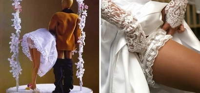 Bride performs 'or*l sex' on wedding guest but it soon gets VERY messy