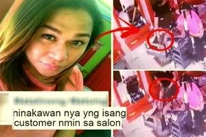 Kawatan sa salon! Watch this Pinoy hairstylist steal his customer's wallet!