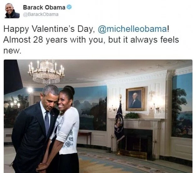 Be my Valentine! Barack and Michelle Obama show what true LOVE looks like (photos)