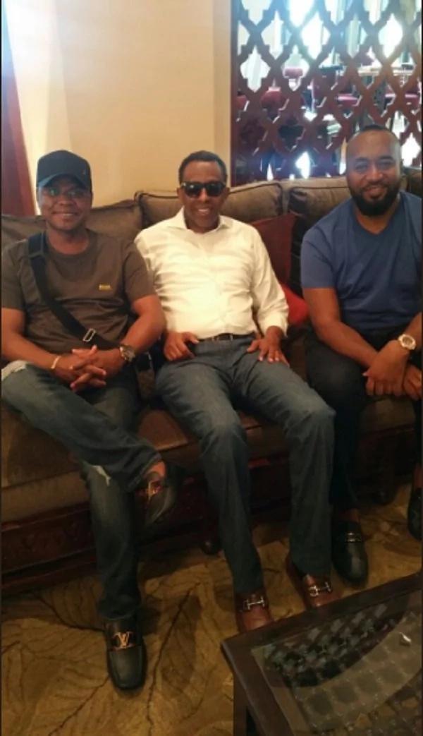 Kilifi Governor Amason Kingi, Lawyer Ahmednasir Abdullahi and Governor Hassab Joho. Photo: Ahmednasir/Twitter