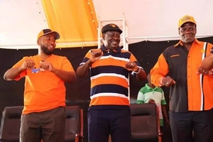 Governor Hassan Joho will break your skull-Raila Odinga warned