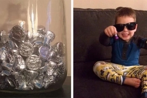 Un militaire laisse 199 chocolats dans une jar. Voyez pourquoi