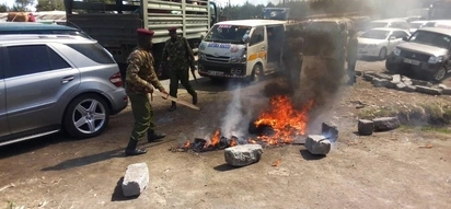 Anti-riot police deployed after chaos broke out over the planned KSh 800 million cemetery for kenya's elite rich in Mt Kenya