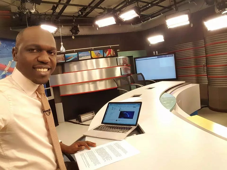 A never seen photo of Larry Madowo before the fame and money