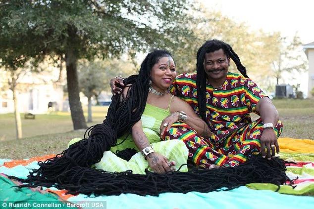 Kenyan marries lady with longest dreadlocks in the world