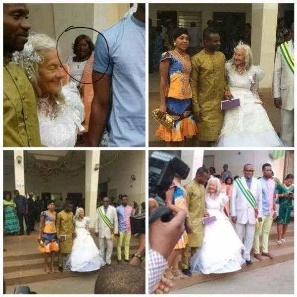 Shock as man weds GRANDMOTHER in colourful church ceremony (photos)