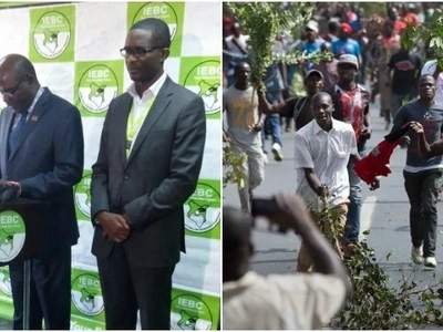 Vijana wenye hamaki wafunga barabara wakiwazuia Chiloba na Chebukati kuhudhuria mazishi ya Msando