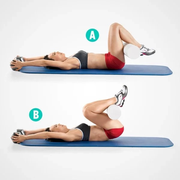 Tone your abs on a mat with these 5 moves not crunches for Floor ab workouts