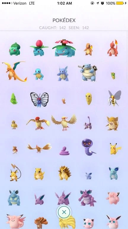 Pokémon Go player finally catches 'em all