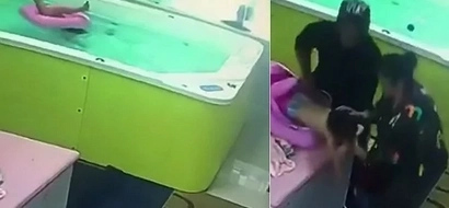 Toddler takes a dive into swimming pool, drowns for 72 seconds before rescue arrives (photos)