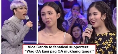 "Vice Ganda has a message for Maymay and Kisses' respective fans: ""wag kayo feeling powerful at feeling entitled!"""