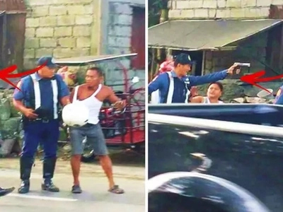 This Pinoy policeman pulled his gun on a motorcycle rider at a checkpoint! The real reason behind his actions will terrify you!