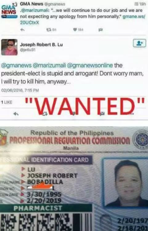WATCH: Joseph Robert Lu offers public apology after threat to kill Duterte