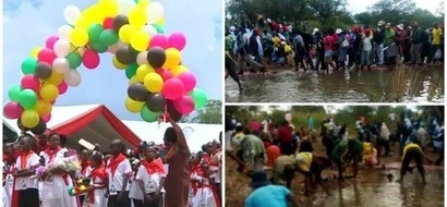 Consternation as kids who sang at Mugabe's birthday party are left to sleep in the RAIN (photos)