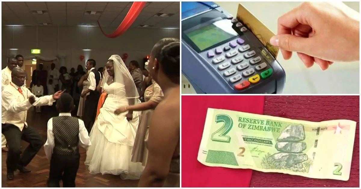 No cash? No problem! Zimbabwe weddings hire card machines for guests to swipe their gifts (photos)