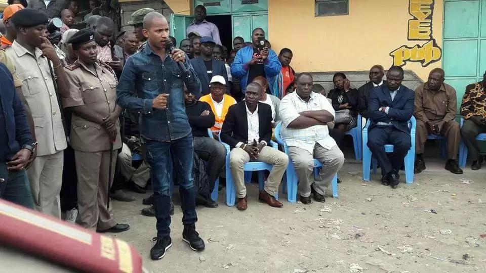 Babu Owino visits victims of 'Mungiki' attack in Embakasi and makes big promise