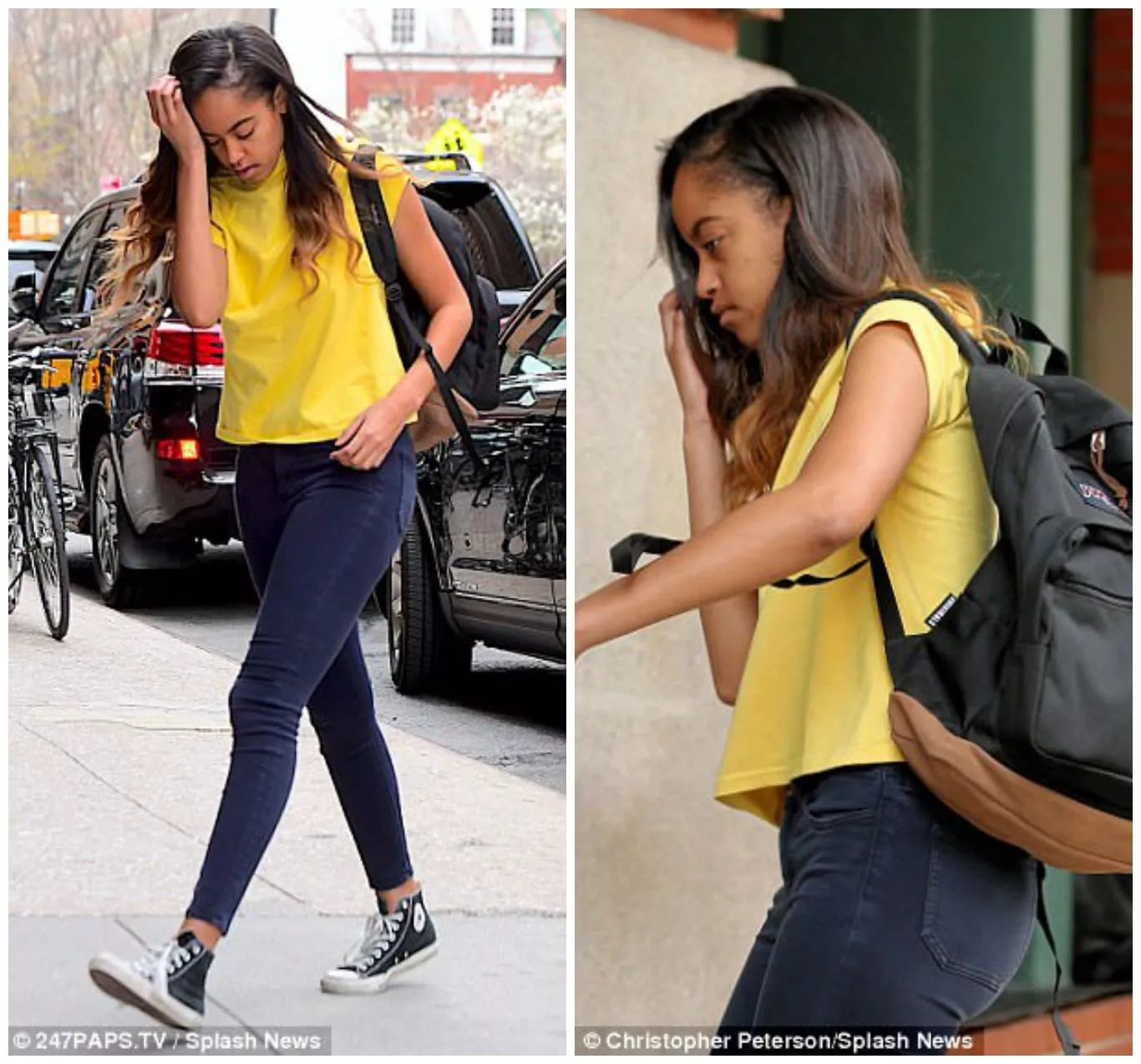 Security scare for Malia Obama as man pretends to be blind and waits outside her office (photos)