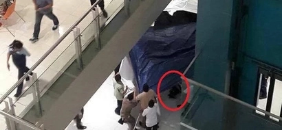 Another SM suicide incident! Man jumps off 5th floor of SM Megamall, crashes down to lower ground floor