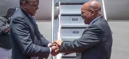 Uhuru na Zuma wasakata densi