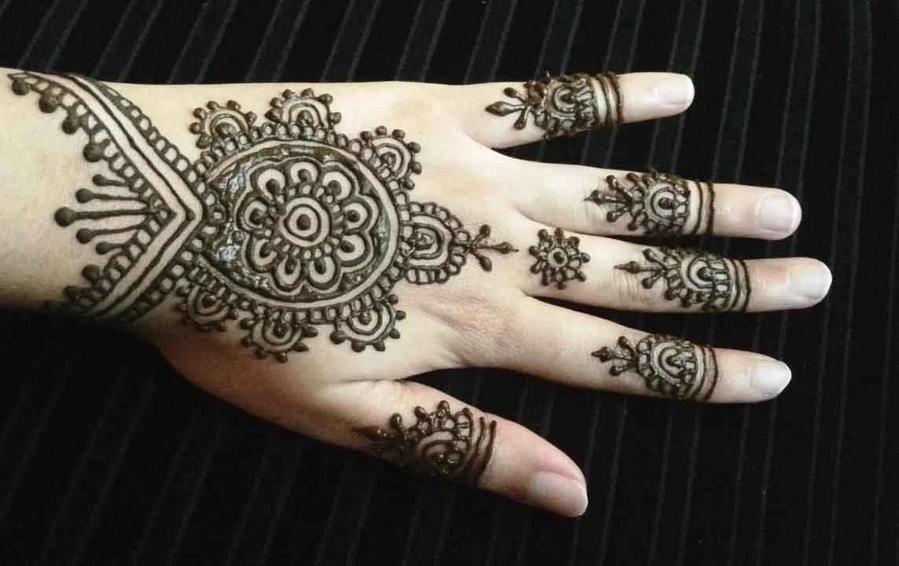 Blank fingertips mehndi designs for hands