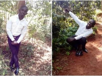 Photos of the STUPIDEST thief in Kenya