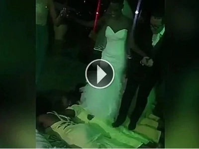 If this couple's entrance does not leave you in shock, you are not from this world